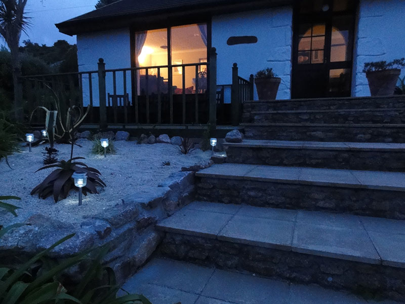 Evening at Soleil D'or Guest House in Bryher Isles of Scilly
