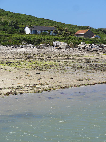 Soleil D'or Guest House in Bryher Isles of Scilly taken from the beach
