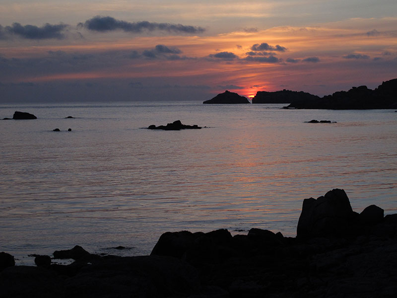 Sunset on Bryher near Soleil D'or Guest House in Isles of Scilly