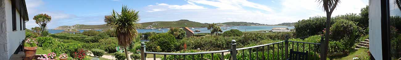 View from Soleil D'or Guest House in Bryher Isles of Scilly